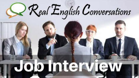 Conversation in English about job interview